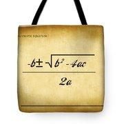Quadratic Equation - Aged Tote Bag