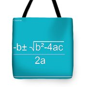 Quadratic Equation Aqua-white Tote Bag