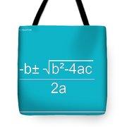 Quadratic Equation Aqua-white Tote Bag