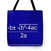 Quadratic Equation Blue-white Tote Bag