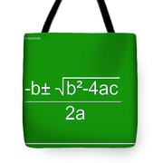 Quadratic Equation Green-white Tote Bag