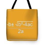 Quadratic Equation Orange-white Tote Bag