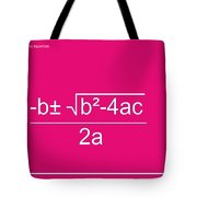 Quadratic Equation Tote Bag