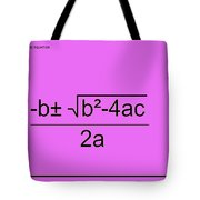 Quadratic Equation Pink-black Tote Bag