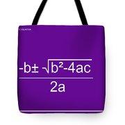 Quadratic Equation Violet-white Tote Bag