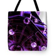 Quadrent Purple Tote Bag