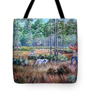 Quail Hunting...a Southern Tradition. Tote Bag