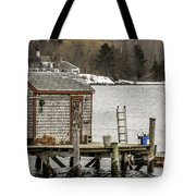 Quaint Fishing Shack New Hampshire Tote Bag