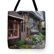 Quaint Rockport Tote Bag
