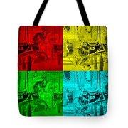 Quad Color Horses Tote Bag