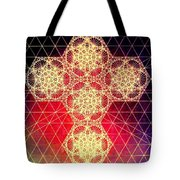 Quantum Cross Hand Drawn Tote Bag