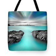 Quantum Divide Tote Bag