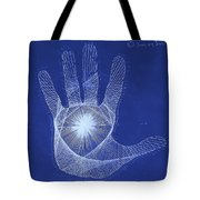 Quantum Hand Through My Eyes Tote Bag