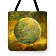 Quantum Soul...orb Of Light Tote Bag by Robin Moline