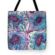 Quatro Floral - 11ac04 Tote Bag