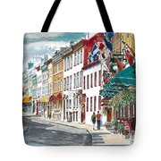 Quebec Old City Canada Tote Bag