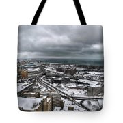 Queen City Winter Wonderland After The Storm Series 0011 Tote Bag