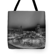 Queen City Winter Wonderland After The Storm Series 0018a Tote Bag