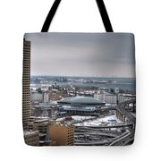 Queen City Winter Wonderland After The Storm Series 0025 Tote Bag