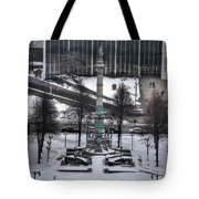 Queen City Winter Wonderland After The Storm Series 0026 Tote Bag