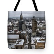 Queen City Winter Wonderland After The Storm Series 004 Tote Bag