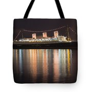 Queen Mary Decked Out For The Holidays Tote Bag
