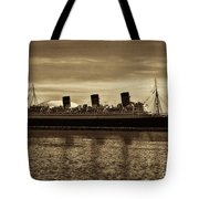 Queen Mary In Sepia Tote Bag