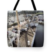 Queen Mary Ocean Liner Bow 03 Long Beach Ca Tote Bag