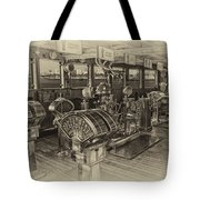 Queen Mary Ocean Liner Bridge 01 Heirloom Tote Bag