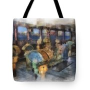 Queen Mary Ocean Liner Bridge 01 Photo Art 01 Tote Bag