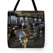 Queen Mary Ocean Liner Bridge 01 Tote Bag