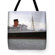 Queen Mary Ocean Liner Starboard Side 05 Long Beach Ca Tote Bag