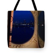 Queen Mary Port Hole Night  Tote Bag