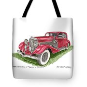 Queen Of Diamonds 1933 Duesenberg Model J Tote Bag