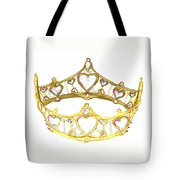 Queen Of Hearts Crown Tiara By Kristie Hubler Tote Bag