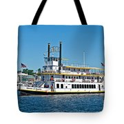 Queen Of Seattle Vintage Paddle Boat Art Prints Tote Bag