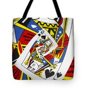 Queen Of Spades Collage Tote Bag