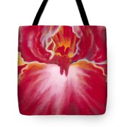 Queen Red Iris Tote Bag