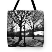 Queens Bridge Park  Tote Bag