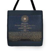 Queen's Campus - Commemorative Plaque Tote Bag
