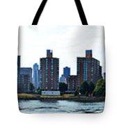 Queensboro Bridge / Roosevelt Island Panorama Tote Bag