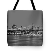 Queensboro Bridge 59th Street Nyc Bw Tote Bag