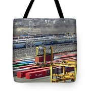 Queensgate Yard Cincinnati Ohio Tote Bag