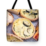 Quiches Pizza And Breads Tote Bag