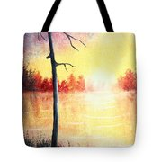 Quiet Evening By The River Tote Bag