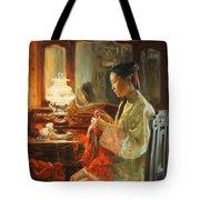 Quiet Evening Tote Bag by Victoria Kharchenko