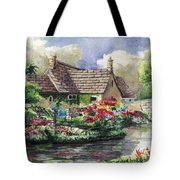 Quiet House Along The River Tote Bag