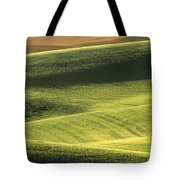 Quiet Morning In The Palouse  Tote Bag by Sandra Bronstein