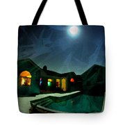 Quiet Night With A Full Moon Tote Bag