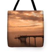 Quiet Peachy Toned Pier Tote Bag